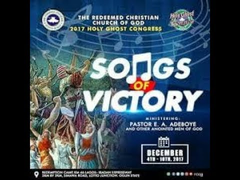 RCCG 2017 HOLY GHOST CONGRESS DAY 3 (EVENING SESSION) _ SONGS OF VICTORY