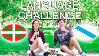 LANGUAGE CHALLENGE - Galego vs Euskera | Spanish with subtitles