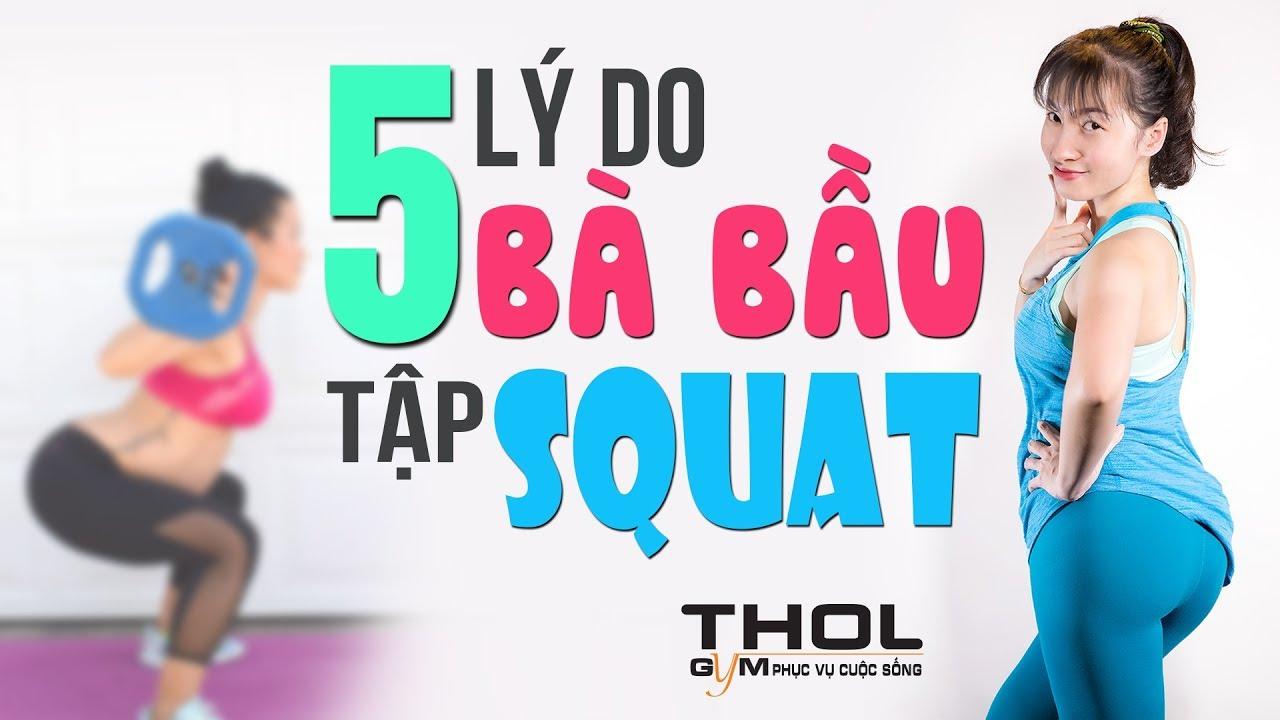 HT Vlog –  Bà bầu squats gánh đùi bảo vệ sức khỏe thai nhi