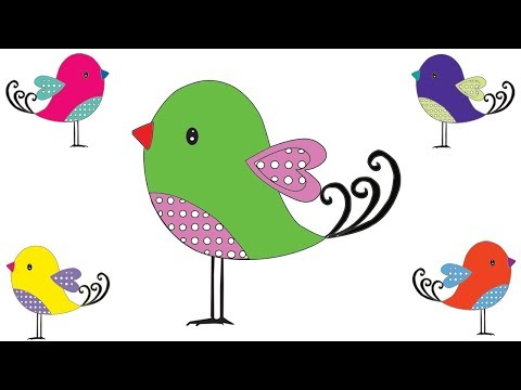 How to Draw a Bird Coloring Pages For Children || Drawing Bird || Video For Kids thumbnail