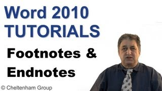 Word 2010 Tutorials | Footnotes and Endnotes
