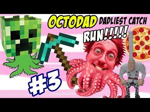OctoDad: Dadliest Catch Part 3 - Minecraft & Ketchup Glue? CHEF RUN! (FUNNY FGTEEV HILARIOUS Game)
