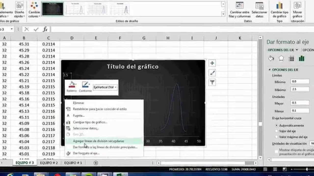 CALCULO DE AREA BAJO LA CURVA EXCEL - YouTube