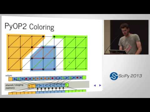 PyOP2: a Framework for Performance-Portable Unstructured Mesh-based Simulations, SciPy 2013