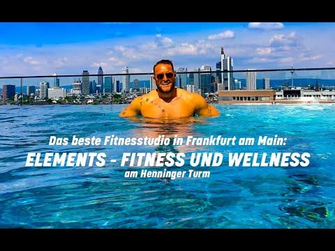 Das beste Fitnesstudio in Frankfurt - Elements Henninger Turm mit Pool mit grandiosem Skyline Blick