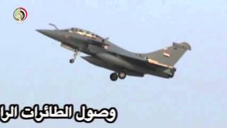 بالفيديو .. شاهد الدفعة الثانية من طائرات الرافال المصرية الجديدة