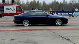 BMW 850 CSi 1/4mile drag race