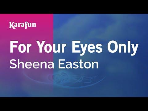 Karaoke For Your Eyes Only - Sheena Easton *