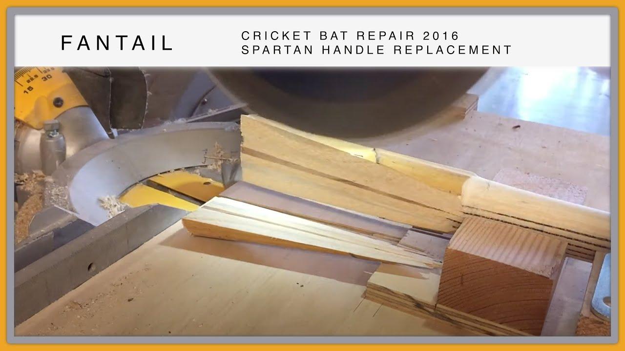Fixing A Cricket Bat With Broken Handle