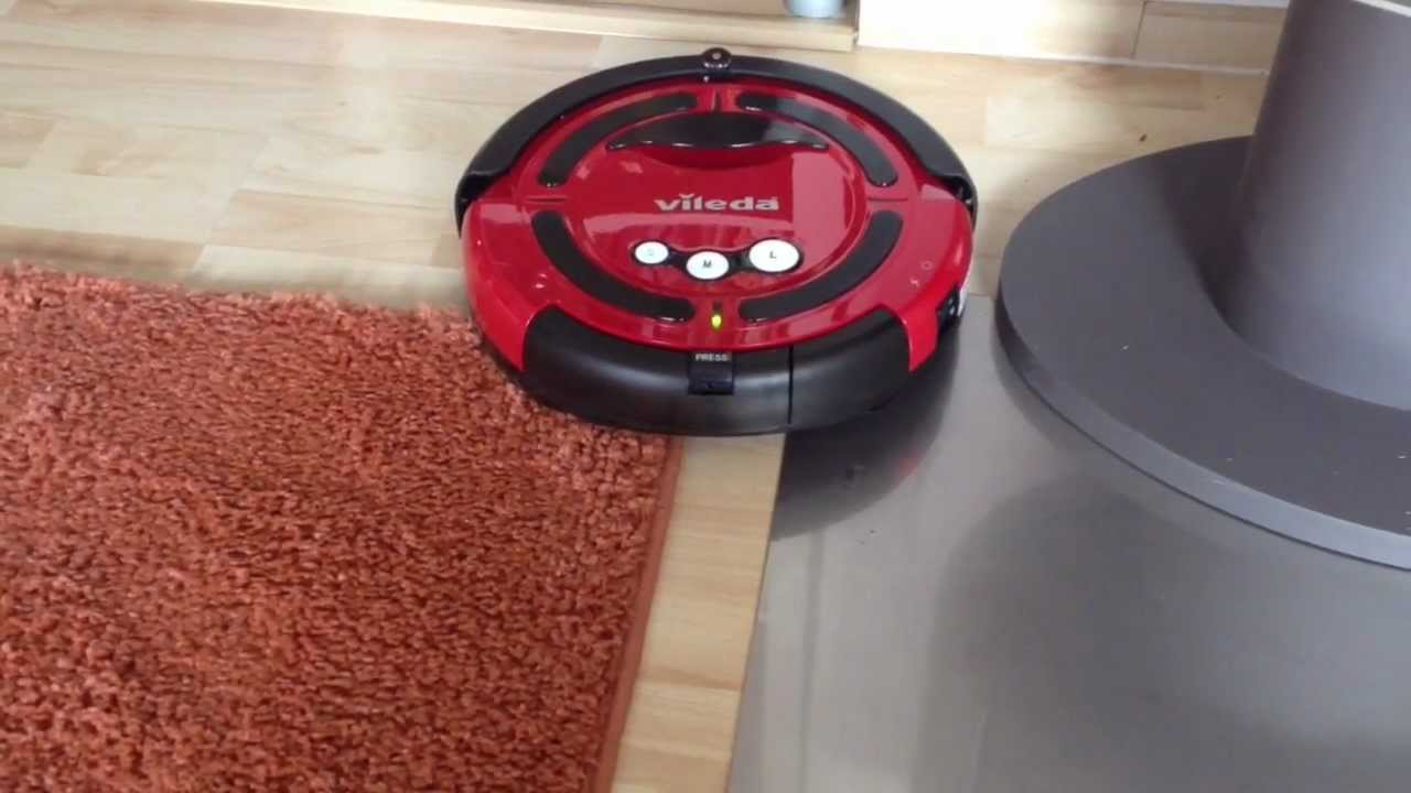 Roomba Robot Vileda M-488a Cleaning Robot Saugroboter Review - Youtube