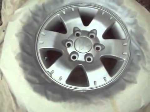 alloy wheels repair refurbish while wheels are kept on the car,2