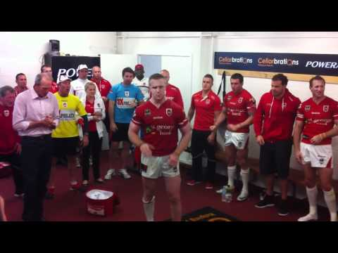 Victory song!! the Dragons cut loose after beating the Warriors
