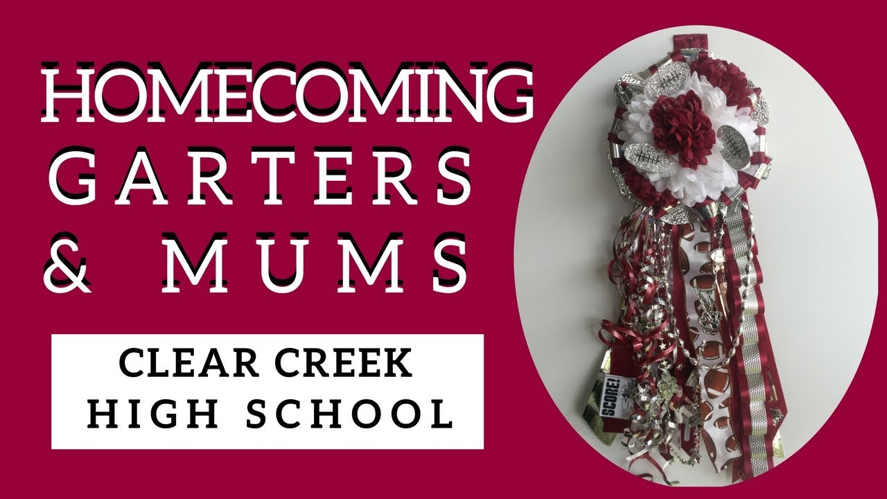 Clear Creek Homecoming Mums Maroon And White Football Garters