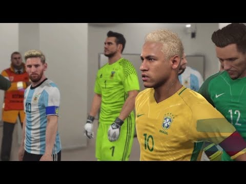 PES 2017 |Brazil vs Argentina |GamePlay |PS4 |Maracanã Stadium