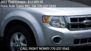 2011 Ford Escape XLS FWD - for sale in Lawrenceville, GA 300