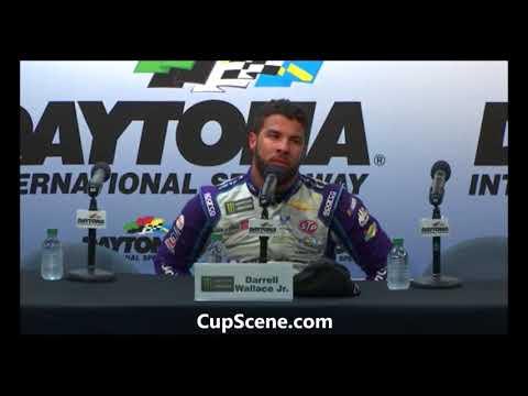 "NASCAR at Daytona International Speedway, Feb. 2018: Darrell ""Bubba"" Wallace post race"
