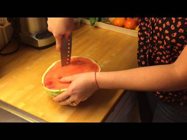 Cortar uma melancia bem rápido e facil!!!