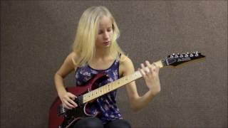 2 Female Guitarists  Shred Off! Laura Lace Vs Tina S