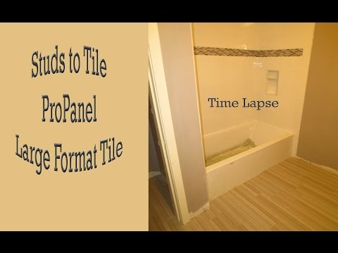 Time lapse of complete install of Tub area and floor Studs to tile. Using MLT and T-Lock