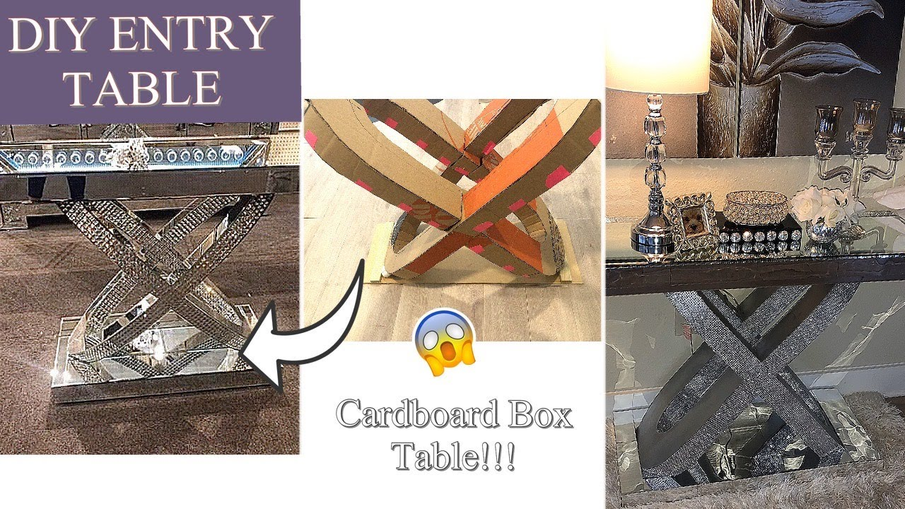 Diy Entry Table With Cardboard Bo