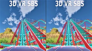 VR 3D Roller Coaster 6 Американские Горки видео для VR очков 3D SBS VR box