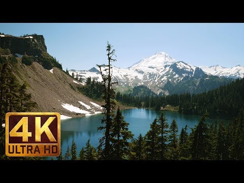 3 Hours - 4K Nature Relax Static Video with Soothing Nature Sounds - Mount Baker, Chain Lakes Trail
