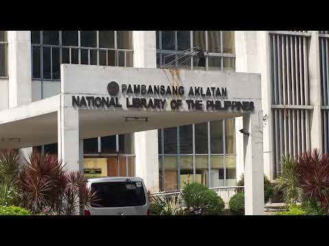 File footage - National Library [Ermita, Manila; Oct 2014] HD