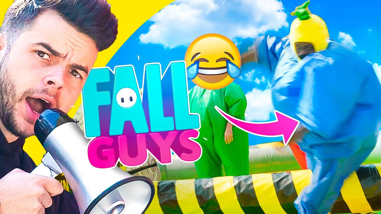 100 Thieves FALL GUYS In REAL LIFE Challenge!
