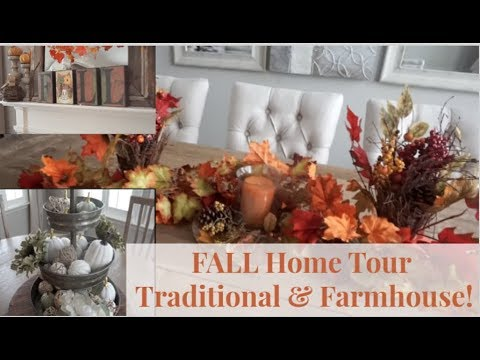 DECORATE FOR FALL WITH US | COZY FARMHOUSE STYLE & TRADITIONAL FALL DECOR!