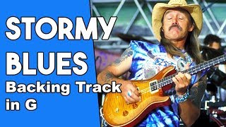 Stormy Monday Blues Backing track in Gm