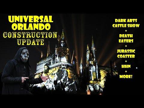 Universal Orlando Resort Jurassic Coaster / Dark Arts Show Construction Update 9.16.19