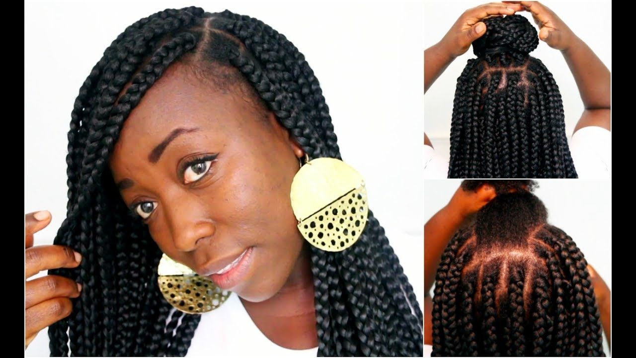 Box Braids On Natural Hair Protective HairStyle Large ...