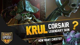 Vainglory Skins Gameplay - [Legendary] Corsair Krul |Chests + Gameplay| [Update 2.3]