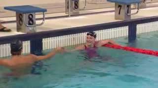 Sarah Sjostrom & Gregorio Paltrinieri - 50m Freestyle Race