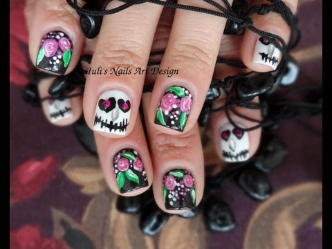 Contest entry for Mesi Nail Art - MesiaszCiszy-Cute skulls-No brush-easy-Live tutorial
