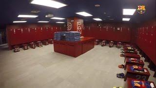 FC Barcelona dressing room before the game ag...