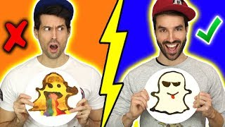 PANCAKE ART CHALLENGE AVEC CARL IS COOKING - HUBY