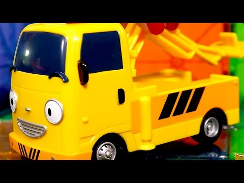 Tow Trucks For Kids - Fire Trucks - Buses For Kids - Tayo Buses Toys - My Little Bus Tayo Toys