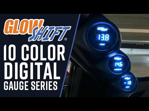 GlowShift Blue Digital LED Transmission Temperature Gauge