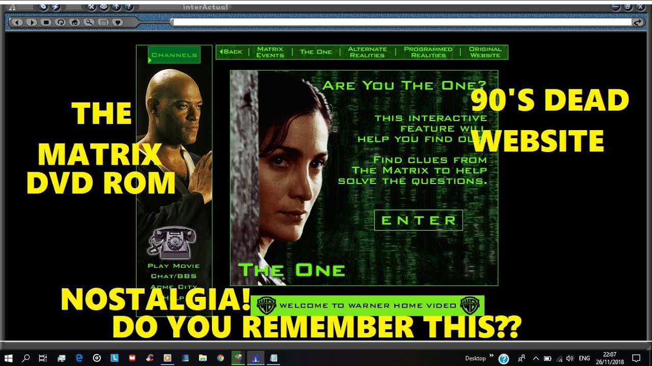 The Matrix Dvd Rom Walk Through With Interactual Player