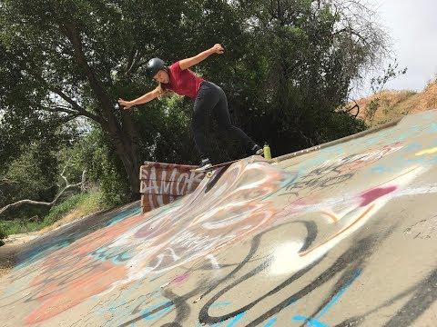 SKATING a ditch in Hollywood, CA - HUNTER LONG