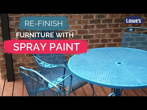 How To Re-finish Furniture With Spray Paint