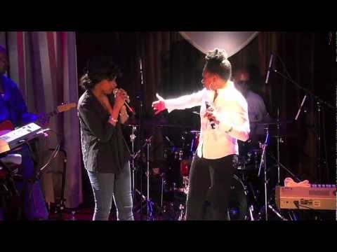 Rachelle Ferrell & Jennifer Hudson, March 3, 2012, Viper Alley, Lincolnshire, Illinois On Stage