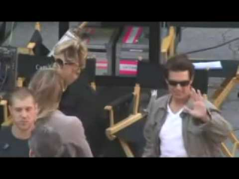 Tom Cruise and Cameron Diaz on the set of Knight and Day