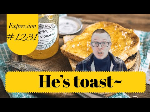 Learn English: Daily Easy English 1231: He's toast~