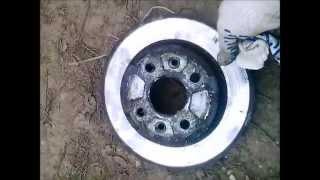 Замена тормозных дисков на Kia Rio часть 3