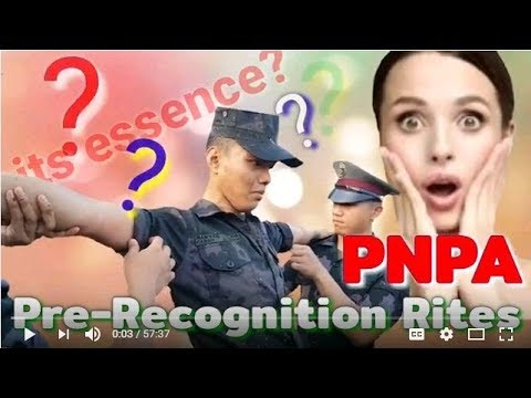 PNPA Class 2022 Pre Recognition Rites....Its Essence!