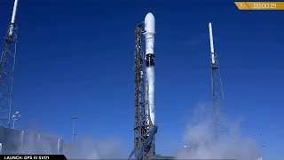 Falcon 9 scrubbed launch with GPS III SV01