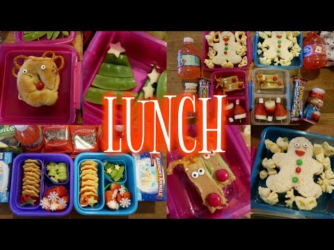 Christmas Themed School Lunch Week! 🎄 - Week 13  | Sarah Rae Vlogas |