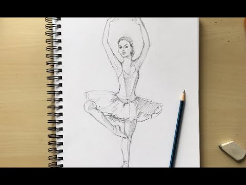 How To Draw A Ballerina. Drawing Together With Natalka Barvinok. FREE Lesson #22, Series BALLET